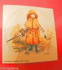 Adesivo sticker vintage promozione patatine crik crok HOLLY HOBBIE fine pioggia
