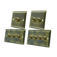 Slimline Antique Brass Dimmer 400W - 10 Amp 1 Gang 2G 3G 4G 2 Way Dimmer Switch