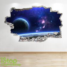 Adesivo parete dello spazio 3d Look-Moon PIANETA GALASSIA STELLE Camera da Letto per Ragazzi z46