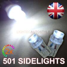 2x LED 501 T10 W5W Xenon Bianco Auto Luce Laterale Lampadine LENTE CONCAVA 6000K