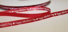 Feliz Día de San Valentín 9mm Cinta de Raso regalar Decoración De Envoltura De Regalo