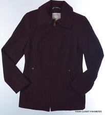 NAUTICA Zip Front Wool Blend Jacket Burgundy Women's size Small