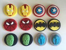 Edible Super HERO The Avengers Hulk,Thor Capt America Iron Man Cupcake topper
