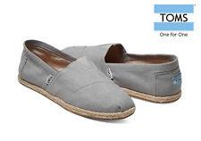 TOMS Mens Canvas Classics Rope Sole Slip On Espadrilles Grey Linen Various Size