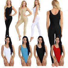 Women Adult Spandex Sleeveless Tank Top Leotard Unitard Yoga Dance Full Bodysuit