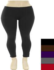2dceef5ee67c06 Womens Plus Size 1X,2X,3X Stretchy Thick Fleece Leggings Elastic waist NWT!