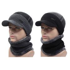 Winter Beanies Hat Men Women Wool Scarf & Cap Balaclava Mask Bonnet Knitted Hat