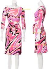 MW009510 - DESIGNER MULTI-COLOURED JERSEY SILK DRESS (#689)