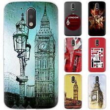 dessana London Union Jack TPU Schutz Hülle Case Handy Tasche Cover für Motorola