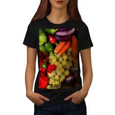 Wellcoda Vegetable Fruit Mix Womens T-shirt, Vivid Casual Design Printed Tee