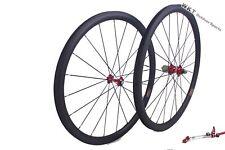 38mm clincher 25mm width carbon wheelset 700C road 3K matte wheelset
