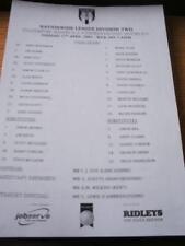 17/04/2001 Teamsheet: Colchester United v Peterborough