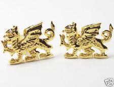 Golden Welsh Dragon Cufflinks  NEW gold finish Cuff LInks NEW 11384