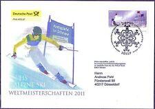 BRD 2010: Ski-WM 2011! Post-FDC Nr. 2834! Berliner Sonderstempel! Gelaufen! 1706