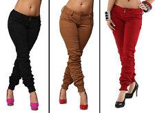 SEXY JEANS macinato riempimento Jeans Skinny Con Polsini Affumicato Taglia 6-14