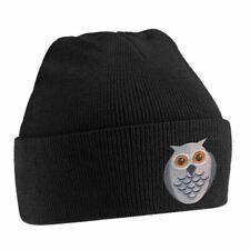 Owl Cute Bird Animal Embroidered Beanie Hat Logo Men's One Size