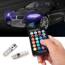 2x T10 6SMD 5050 RGB LED Auto Keil Seitenlicht Leselampe Birne + Fernbedienung