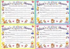 10 personalizzata Baby Shower carte da gioco e inviti-più opzioni