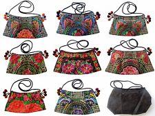 Damen Handtasche hand bestickt Hmong Blumen Vogel Schulter Tasche Ethno Hippie