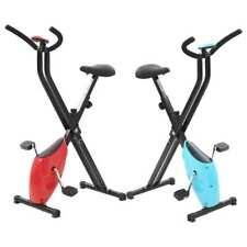 vidaXL Vélo Appartement Résistance à Courroie X-Bike Vélo Exercice Bleu/Rouge