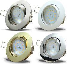 1 -> 10er Sets / 7W SMD LED Deckeneinbaustrahler / Schwenkbar / 230V / Loch=68mm