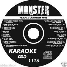 KARAOKE MONSTER HITS CD+G  FEMALE COUNTRY HITS #1116