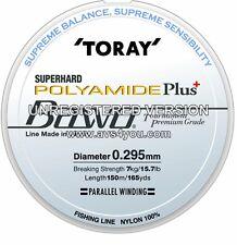 TORAY Superduro POLIAMIDA Plus Bawo nivel premium monofilamento 150m carretes
