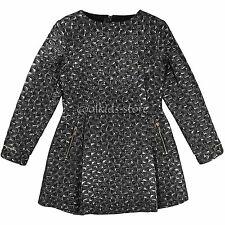 Karl Lagerfeld Kids robe FRANGES anthracite meltallic FETE 158 164 172 NEUF