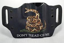 Don't Tread On Me Black OWB Kydex Holster For Canik, Desert Eagle, Remington