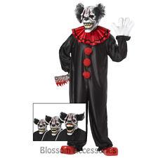 CA33 Last Laugh The Clown Psycho Circus Evil Halloween Costume Ani Motion Mask