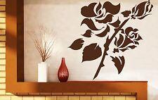 Wall Sticker Vinyl Decal Branch Beautiful Rose Buds Huge Spikes (n128)