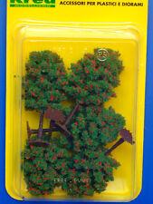 Alberi con fiori rossi per modellismo 5 pz. H. cm. 8,5 scala HO-1/87 - Krea