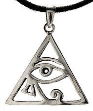 Nr. 262: Auge des Horus 925 Silber Anhänger Schutz Amulett Horusauge Dreieck