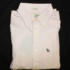 NWT Size Medium M Men Abercrombie Fitch Deer Brook Button Down Dress Shirt