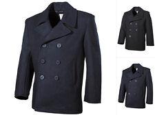 MFH US Navy Pea Coat Jacke Marinejacke Stoffjacke Schwarz Dunkelblau XS-XXL
