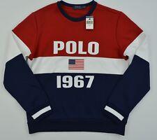"Men's Polo Ralph Lauren ""Polo 1967 & Big US"" Flag Pullover Sweater Sweatshirt"