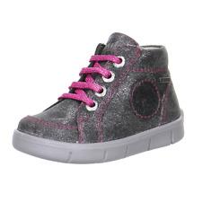 Superfit Baby Lauflern Schuhe silber pink Größe 21 22 Wasserdicht TEX Leder