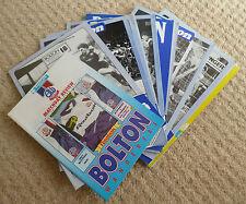 Bolton Wanderers programas 1981-1991