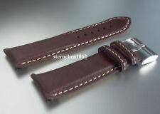 Eulit XL * Lederband für Uhren * Uhrenarmband * Imola * dunkelbraun * 18 - 30 mm