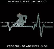VRS Heart Beat Line ANIMAL GORILLA Silverback Ape Love Scratch CAR METAL DECAL