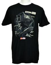 Lego Star Wars T-Shirt Imperial Fleet Ships Graphic Tee Black Cotton NWT