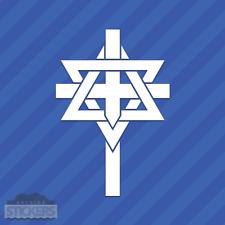Star Of David Cross Vinyl Decal Sticker Religion Jewish Judaism
