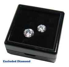 FREE SHIP TOP GLASS DIAMOND GEM JEWELRY BLACK DISPLAY SHOW CASE JAR BOX 4x4 cm