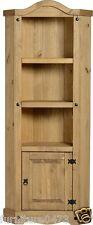 Solid Pine 1 Door Corner Display Unit W76cm x D37cm x H187.5cm CORONA