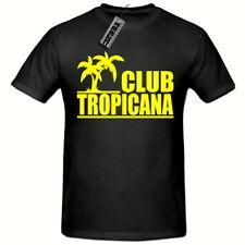 CLUB TROPICANA 80's T SHIRT, (YELLOW LOGO) MEN'S T SHIRT,SM-2XL,FANCY DRESS 80's