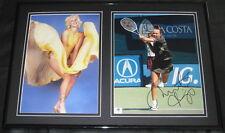 Martina Hingis SEXY Signed Framed Photo Set 12x18 GAI