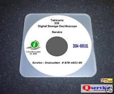 Tektronix TEK 336 Oscilloscope Service + Ops Manuals CD