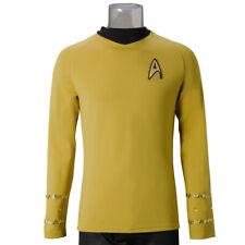 Star Trek TOS The Original Series Cosplay Captain Kirk Shirt Uniform Costume New