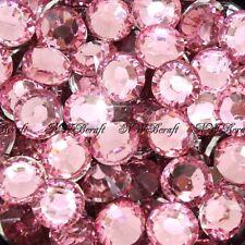 Rose Pink 1000pcs Resin RhinestonesBeads Flat Back Diamante Nail Art Craft Gems
