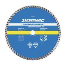 Turbo Wave Diamond Blade 115/230/300mm - Silverline 868588/633588/675104